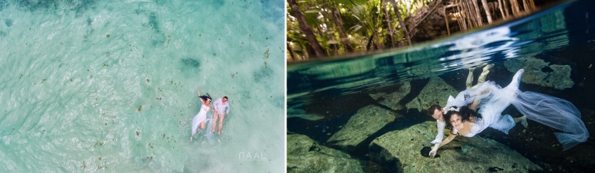 Cenote underwater Photography, Naal Wedding