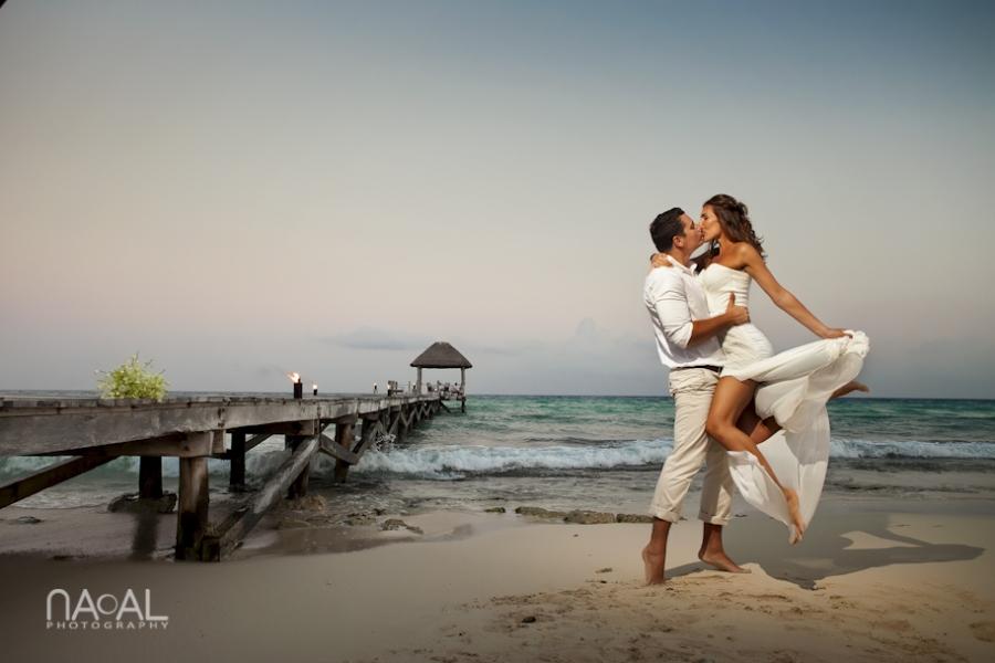 Intimate Beach Elopement At Viceroy Riviera Maya Mexico