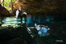 Cenote-trash-dress-sunlight-amazing-picture -  - photographertrashthedress
