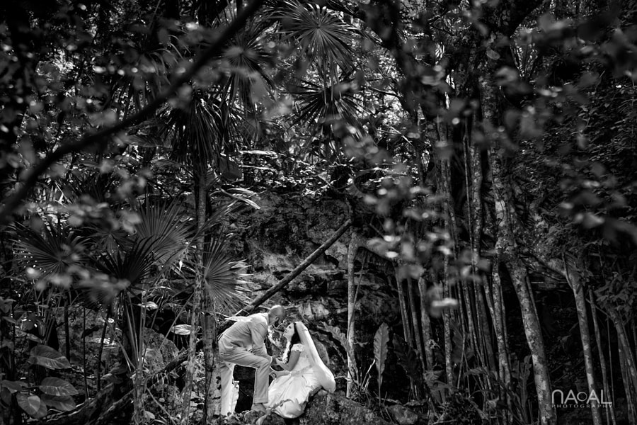 Intimate Cenote Mayan Wedding -  - AB6A9040bn