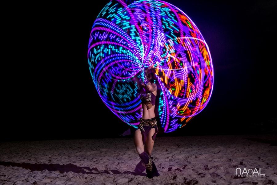 Light dancers Villa Sol y Luna wedding by Naal Wedding Photography