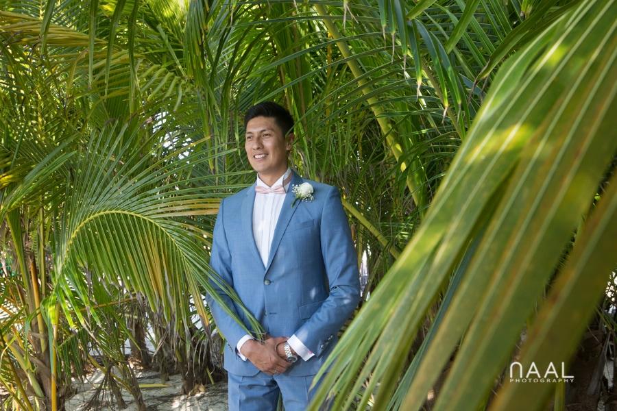 Groom style at Blue Venado beach Club by Naal Wedding Photography