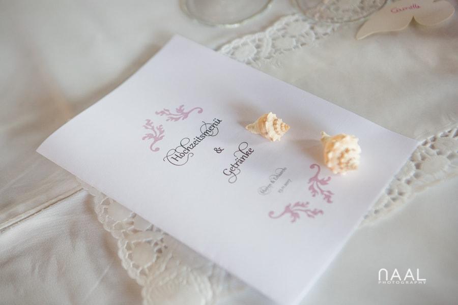 wedding details at Blue Venado beach Club by Naal Wedding Photography