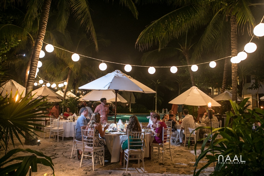 Rehersal dinner Belmond Maroma, Naal Wedding Photography