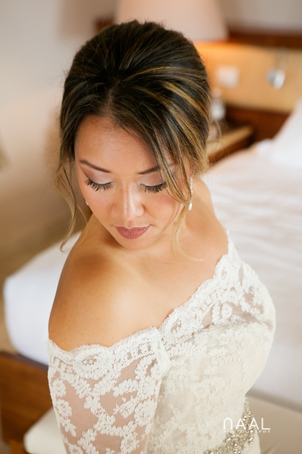Bride. Belmond Maroma by Naal Wedding Photography