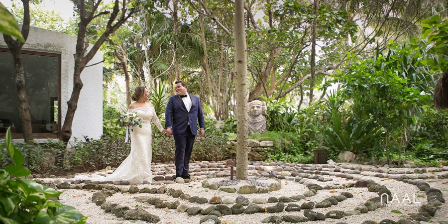 First look. Belmond Maroma by Naal Wedding Photography