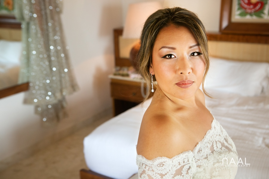 Bride getting ready. Belmond Maroma by Naal Wedding Photography