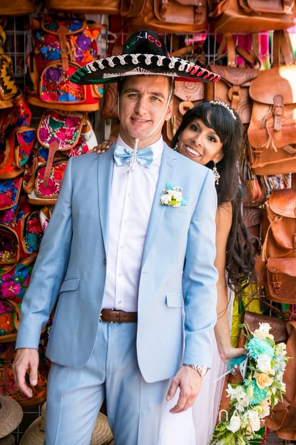 Mexican style Playa del Carmen Naal Wedding Photograp