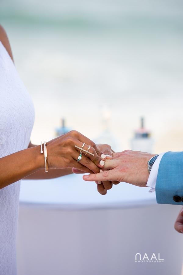 Maribel & Steve -  - Expected beach destination wedding at Le Reve 50