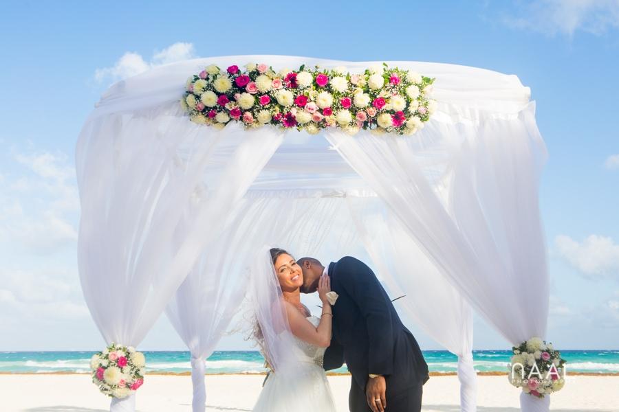 gazebo at riu palace mexico destination wedding by Naal Wedding Photography