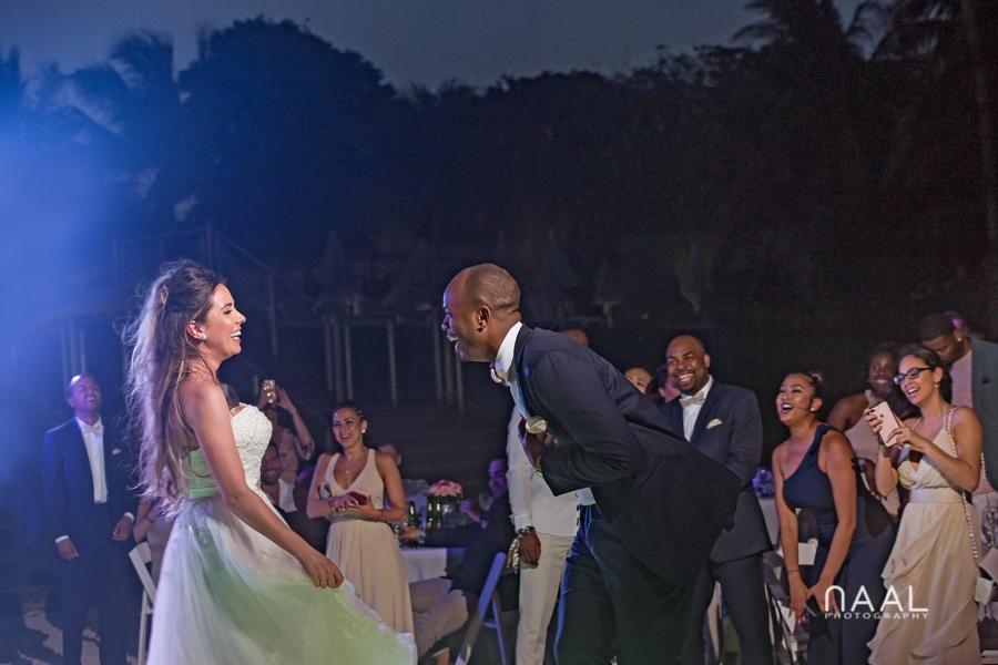 fun moments at riu palace mexico destination wedding by Naal Wedding Photography
