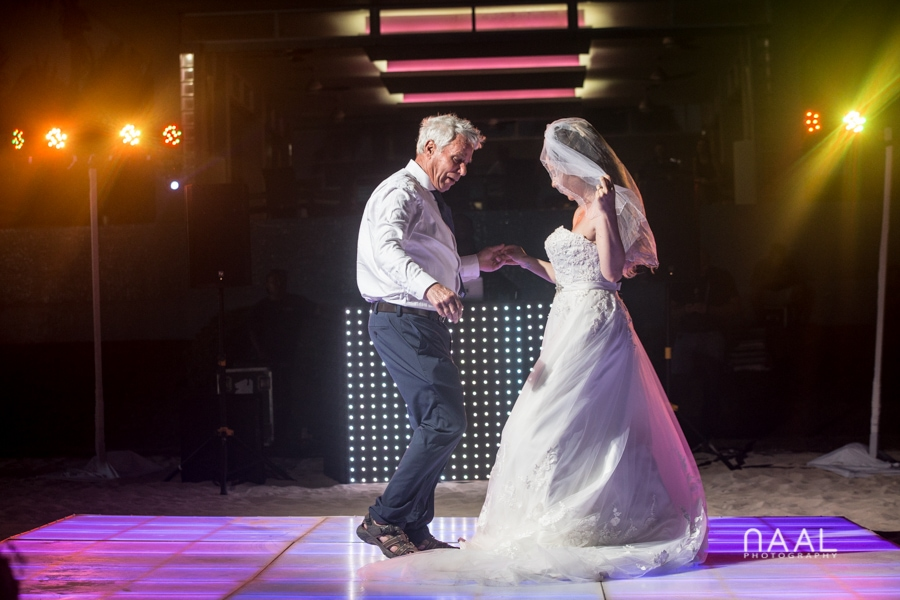 father and daugther dance at riu palace mexico destination wedding by Naal Wedding Photography