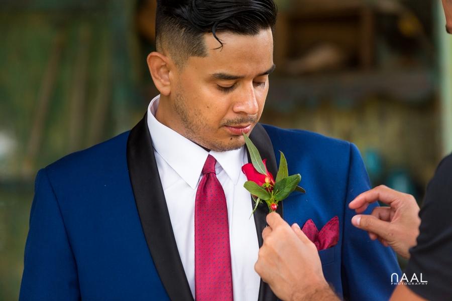 Blue Venado Beach Club wedding details flowers Naal Wedding Photography