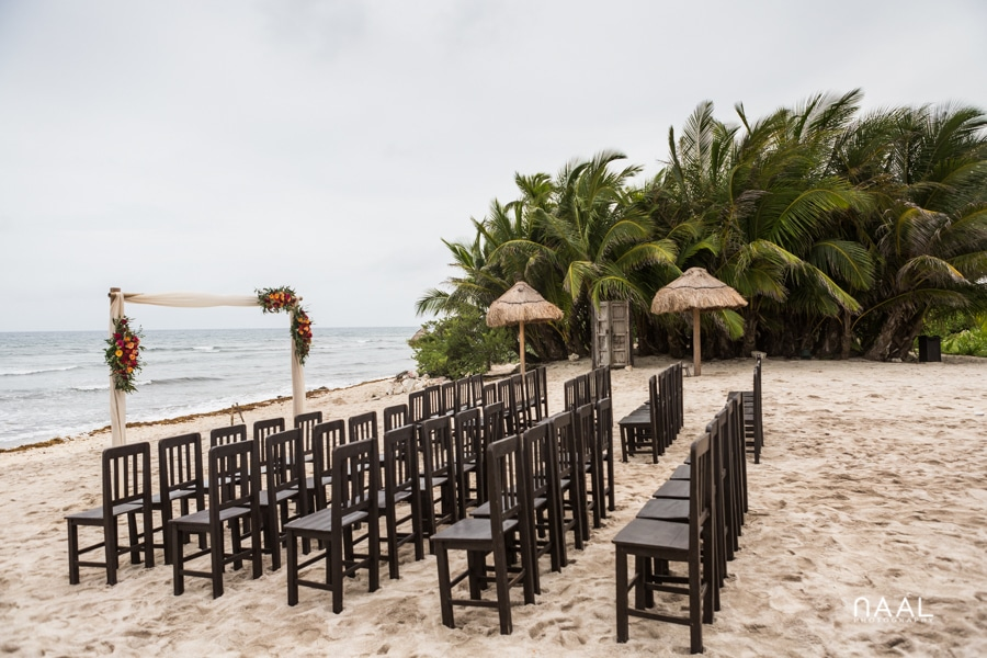 Blue Venado Beach Club wedding gazebo