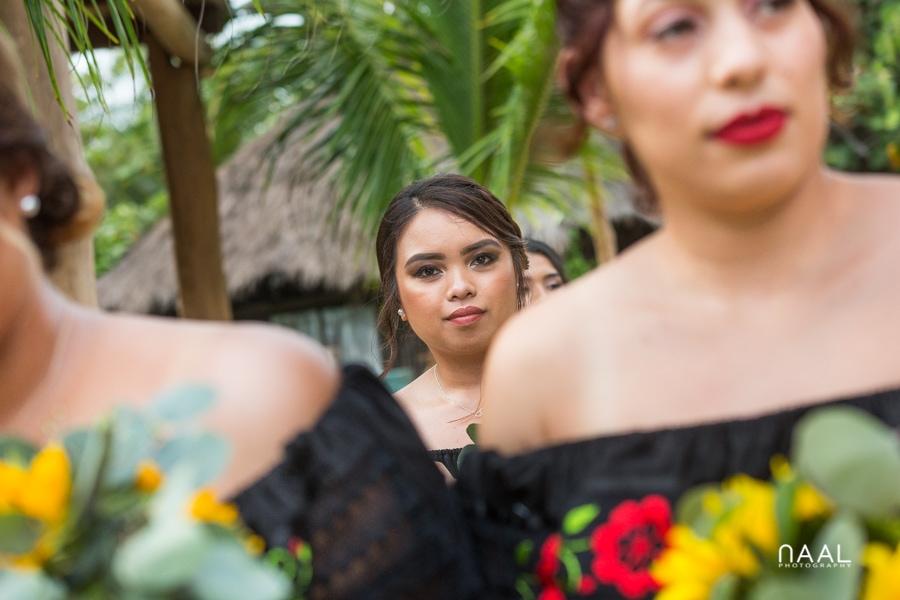 Blue Venado Beach Club bridemaids Naal Wedding Photography