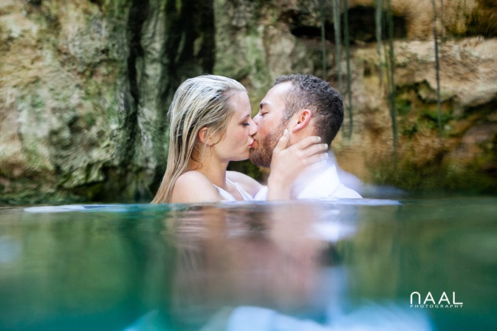 Cenote Trash the Dress in Mexico by Naal Wedding Photography