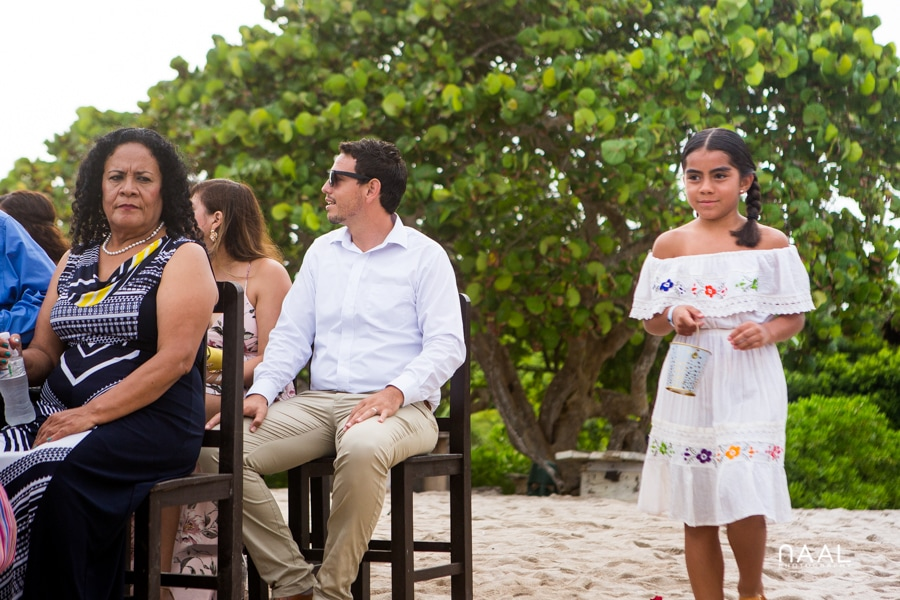 Blue Venado Beach Club flower girl Naal Wedding Photography