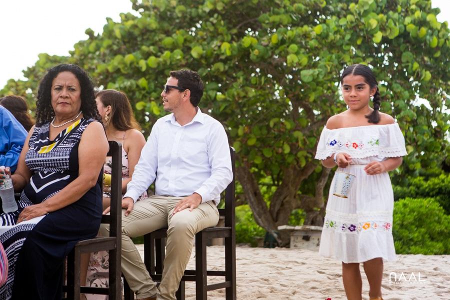 Blue Venado Beach Club flower girl Naal Wedding Photography