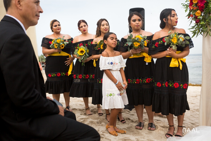 Blue Venado Beach Club bridesmaids Naal Wedding Photography