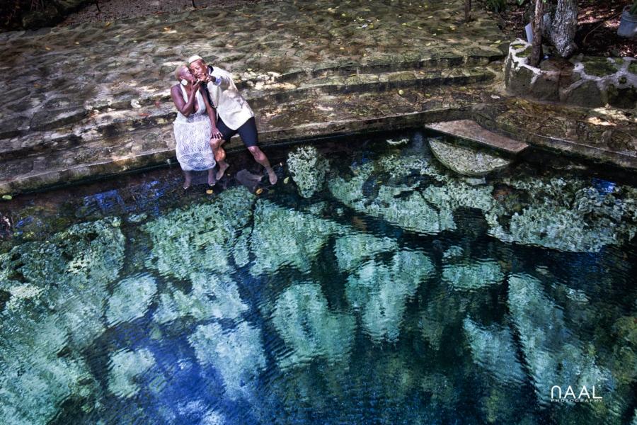 Eric & Cassandra -  - Naal Wedding cenote 106