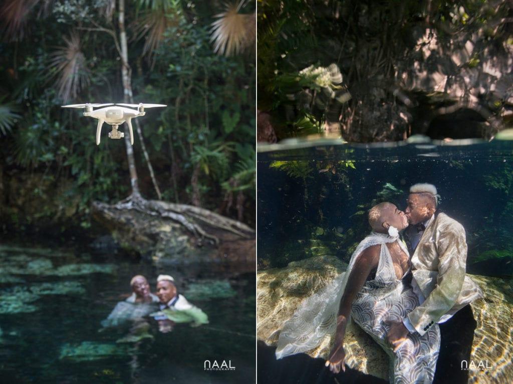 Eric & Cassandra -  - Naal Wedding cenote 107 copy 1024x767