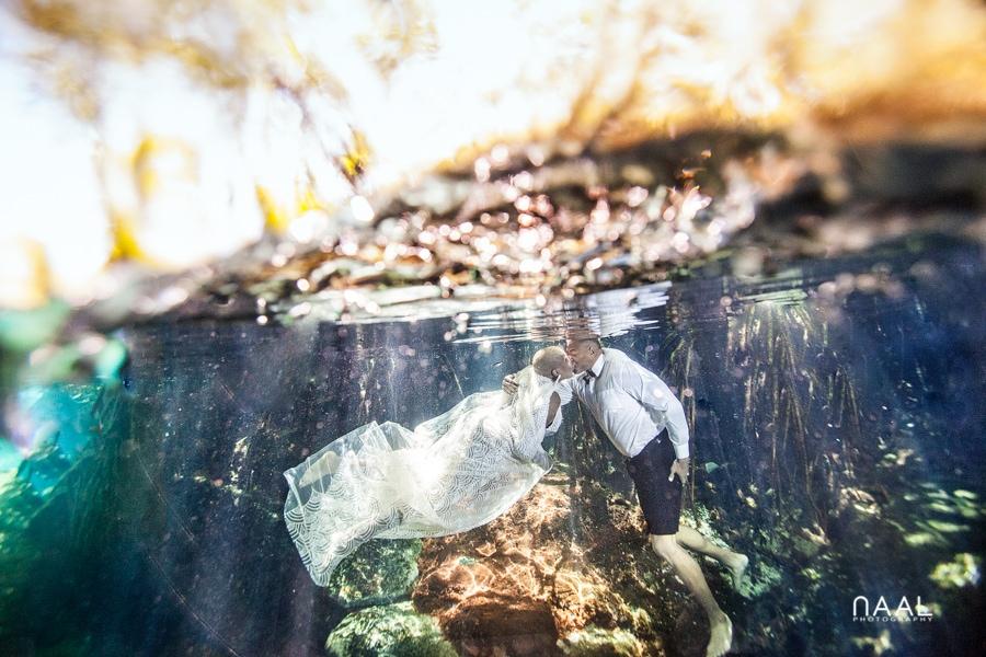 Eric & Cassandra -  - Naal Wedding cenote 117