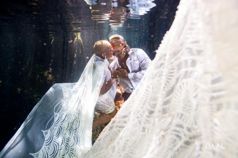 Eric & Cassandra -  - Naal Wedding cenote 125