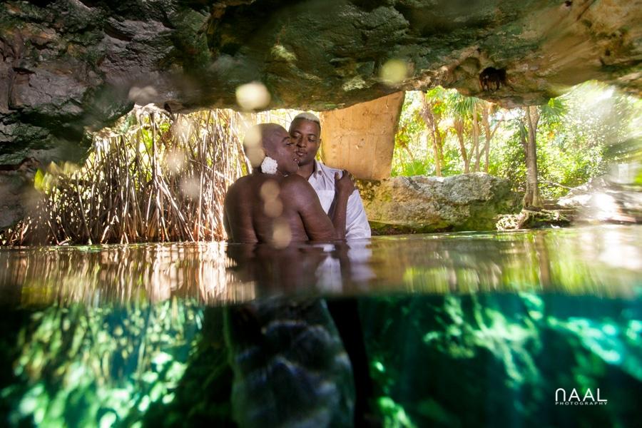 Eric & Cassandra -  - Naal Wedding cenote 127