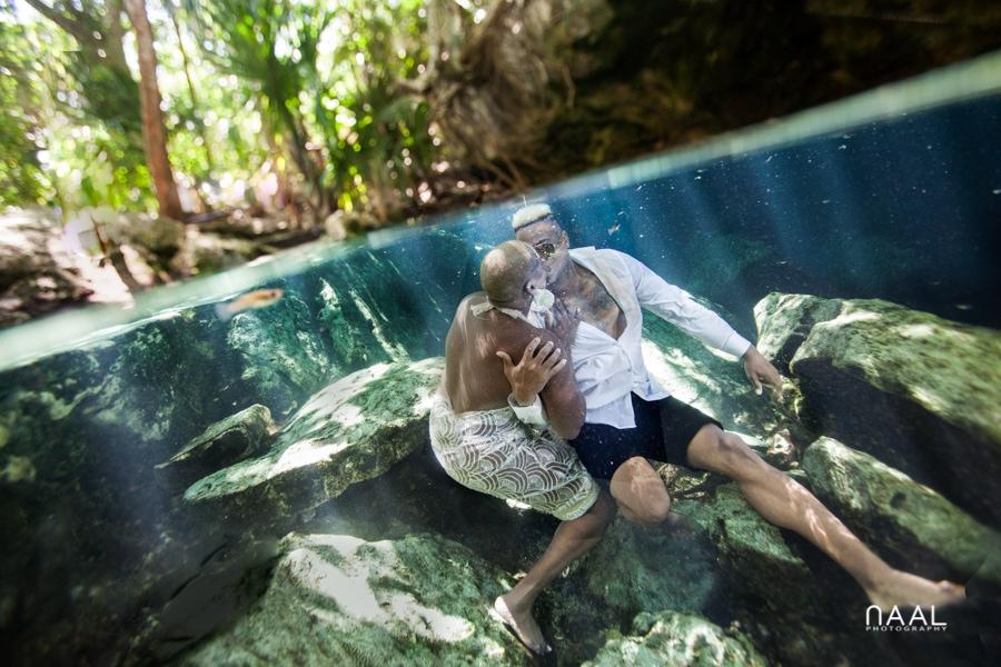 Eric & Cassandra -  - Naal Wedding cenote 147