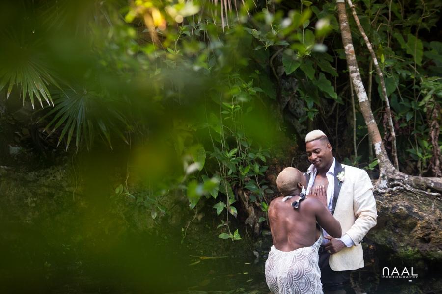 Eric & Cassandra -  - Naal Wedding cenote 46