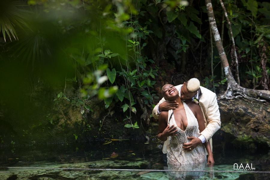 Eric & Cassandra -  - Naal Wedding cenote 49