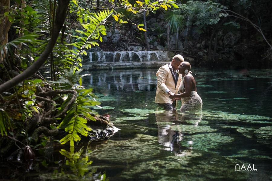 Eric & Cassandra -  - Naal Wedding cenote 60