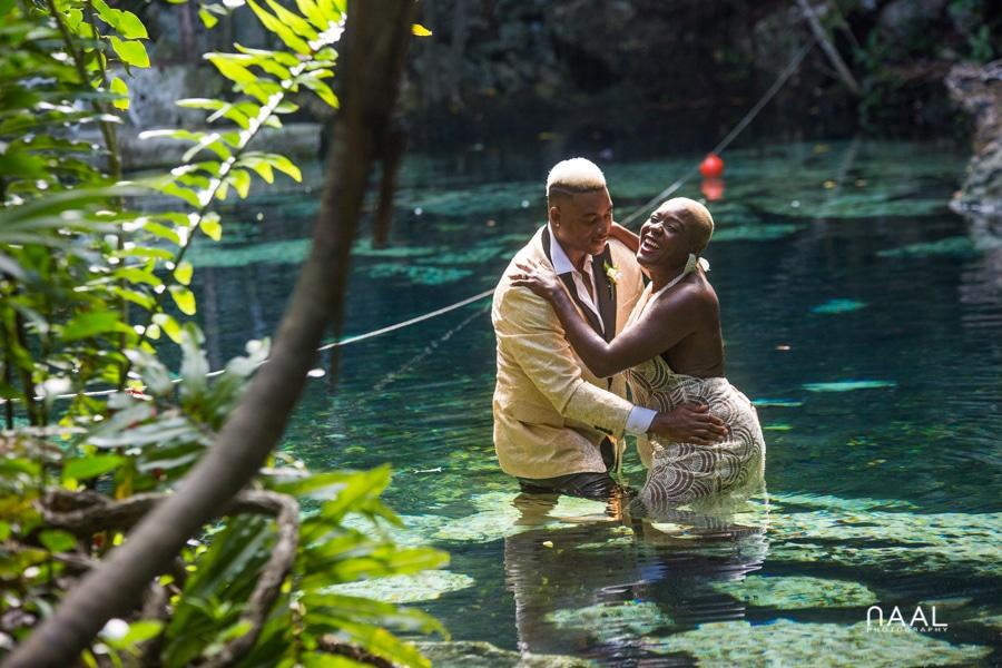 Eric & Cassandra -  - Naal Wedding cenote 62