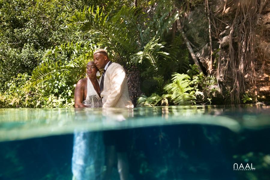 Eric & Cassandra -  - Naal Wedding cenote 63