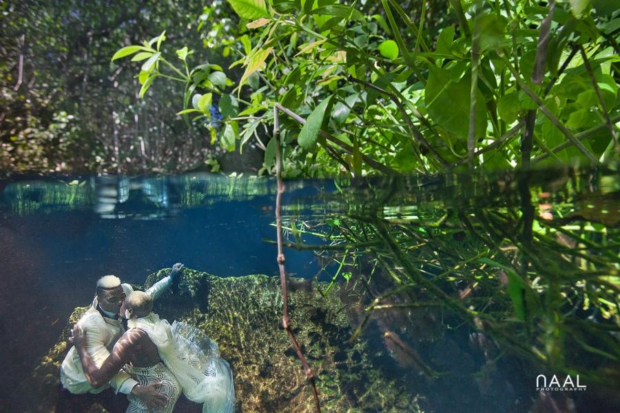 Eric & Cassandra -  - Naal Wedding cenote 91